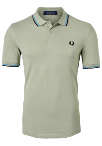 Fred Perry M3600 shirt, polo Light Sage / Cyan / Black