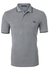 Fred Perry M3600 shirt, polo Grey Marl /Amazon / Black