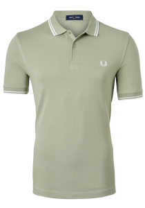 Fred Perry M3600 shirt, polo Light Sage / Snow White / Snow White