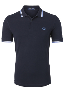 Fred Perry M3600 shirt, polo Navy / Snow White / Riviera