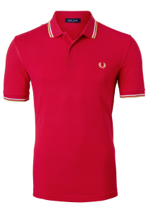 Fred Perry M3600 shirt, polo Jester Red / White / Champagne