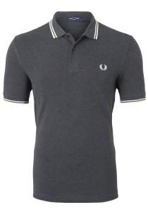 Fred Perry M3600 shirt, polo Charcoal Solid Marl / Snow White / Butter Icing