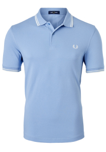 Fred Perry M3600 shirt, polo Sky / Snow White / Snow White