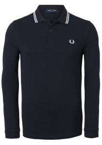 Fred Perry polo lange mouwen, blauw