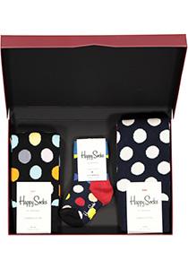 Happy Socks cadeauset, 3-pack Samen gestipt (family pakket)
