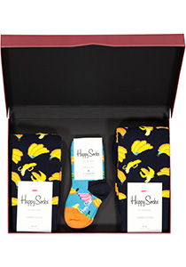 Happy Socks cadeauset, 3-pack Samen gezond (family pakket)