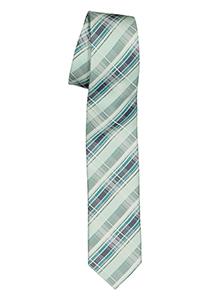 Pelucio stropdas, lichtgroen geruit