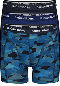 Bjorn Borg boxershorts Essential, 3-pack, Total eclipse