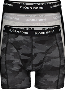 Bjorn Borg boxershorts Essential, 3-pack, Black beauty