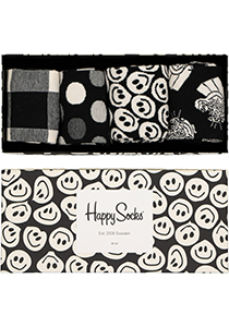 Happy Socks herensokken, Happy Black White Gift Box