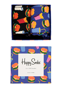 Happy Socks herensokken, Hamburger Gift Box