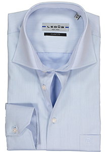 Ledûb Modern Fit overhemd mouwlengte 7, blauw