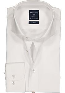 Profuomo Slim Fit overhemd, wit fine twill