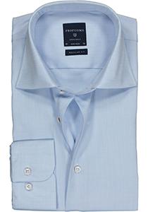 Profuomo Regular Fit overhemd, lichtblauw fine twill