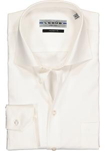 Ledûb Modern Fit overhemd mouwlengte 7, beige