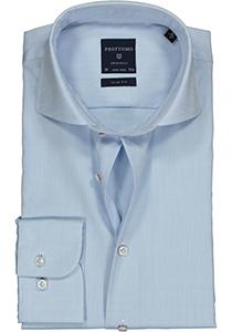 Profuomo Slim Fit overhemd, mouwlengte 7, lichtblauw fine twill