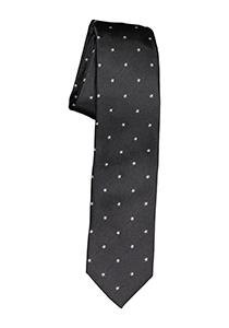 Michaelis stropdas, antraciet grijs met witte sterretjes