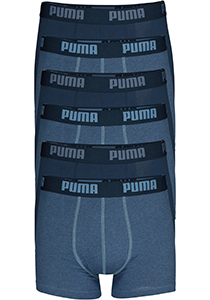Puma Basic Boxer heren (6-pack), denim blauw