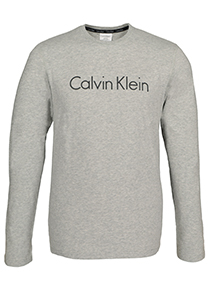 Calvin Klein Comfort Cotton crew neck long sleeve Shirt, grijs melange