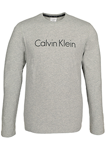 Calvin Klein Comfort Cotton crew neck long sleeve Shirt, grijs melange