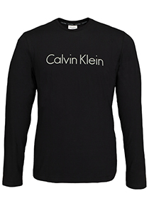 Calvin Klein Comfort Cotton crew neck long sleeve Shirt, zwart