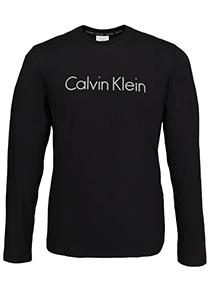 Calvin Klein Comfort Cotton crew neck long sleeve Shirt, zwart