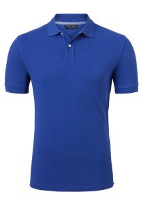 Profuomo Slim Fit polo, kobalt blauw