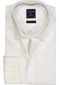 Profuomo Super Slim Fit stretch overhemd, wit