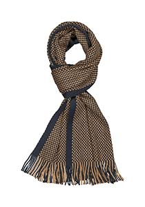 Michaelis heren sjaal, navy blauw - camel