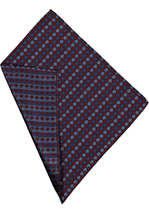 Michaelis pocket square, bordeaux pochet zijde