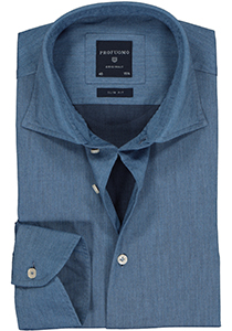 Profuomo Slim Fit  overhemd, jeans blauw twill