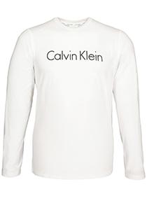 Calvin Klein Comfort Cotton crew neck long sleeve Shirt, wit