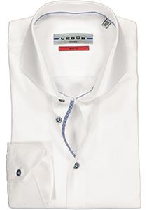 Ledûb Slim Fit overhemd, wit (contrast)