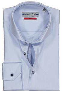 Ledûb Slim Fit overhemd, blauw (contrast)