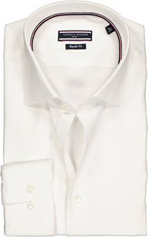 Tommy Hilfiger Core stretch Regular Fit overhemd, wit Oxford