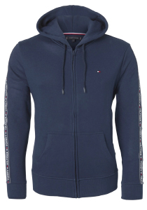 Tommy Hilfiger hoodie jacket, sweatvest blauw