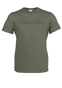 Calvin Klein Comfort Cotton crew neck Shirt, olijfgroen