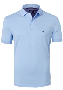 Tommy Hilfiger Regular polo, blauw Chambray Blue