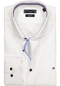 Tommy Hilfiger Poplin Classic Slim Fit overhemd, wit (contrast)