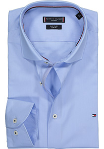 Tommy Hilfiger Poplin Classic Slim Fit overhemd, lichtblauw (contrast)