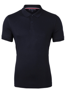 Tommy Hilfiger Slim Fit premium pima interlock polo, donkerblauw