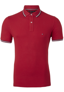Tommy Hilfiger Slim polo, rood primary red