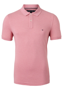 Tommy Hilfiger Slim polo, roze Pink Grapefruit Heather