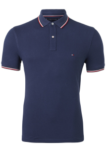 Tommy Hilfiger Slim polo, blauw pitch blue