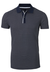 Tommy Hilfiger Classic polo, blauw met wit print