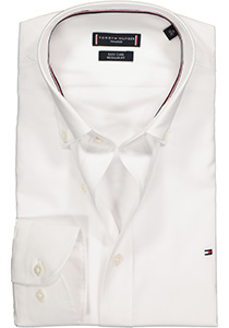 Tommy Hilfiger Dobby Button Down shirt, Regular Fit overhemd, wit