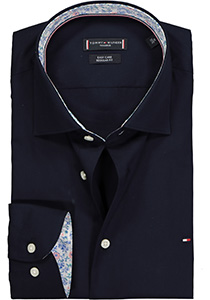 Tommy Hilfiger Poplin Classic shirt, Regular Fit overhemd, donkerblauw (contrast)