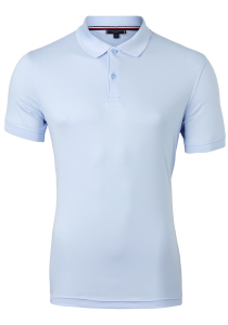 Tommy Hilfiger Slim Fit premium pima interlock polo, lichtblauw
