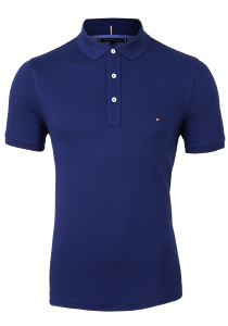 Tommy Hilfiger Slim polo, blauw Blue Ink