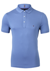 Tommy Hilfiger Slim polo, blauw Washed Ink